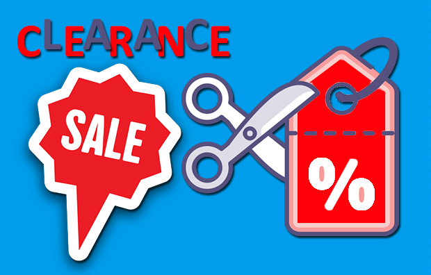 Image of the clearance sale banner